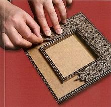 """ramka z kartonu (ps. Zapraszam na YouTube """"kerwetka"""". Znajdziesz tam DIY i różne ciekawe pomysły)"""