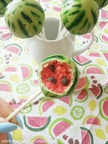 Arbuzowe cake popsy