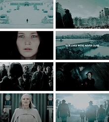 """""""They belong to Snow, and our deaths do too. But if you kill him Katniss, if you end all of this, all those deaths… they mean something."""""""