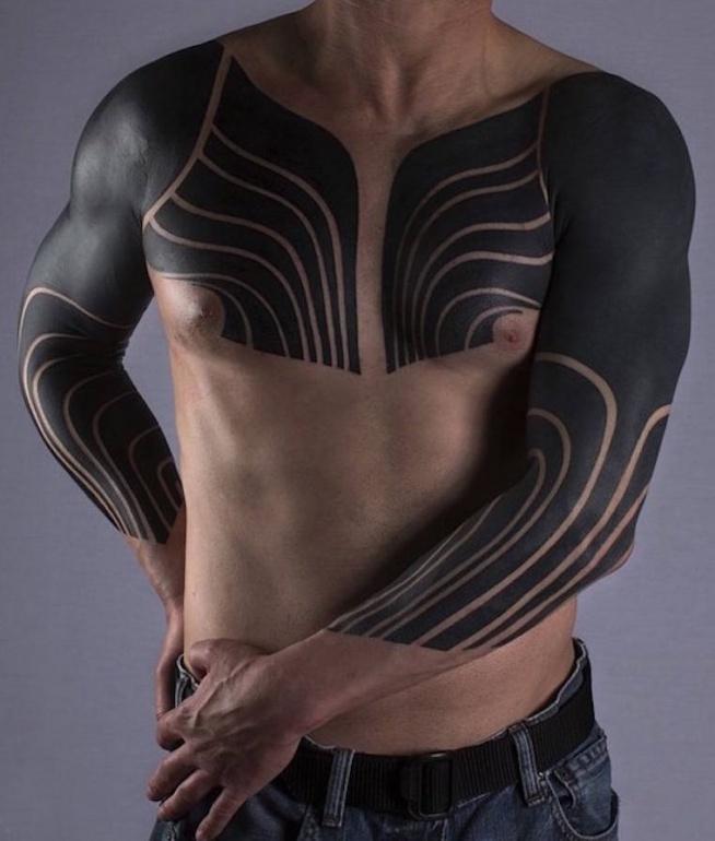 Czarny Wzór Tatuażu Dla Mężczyzn Na Tatuaże Zszywkapl