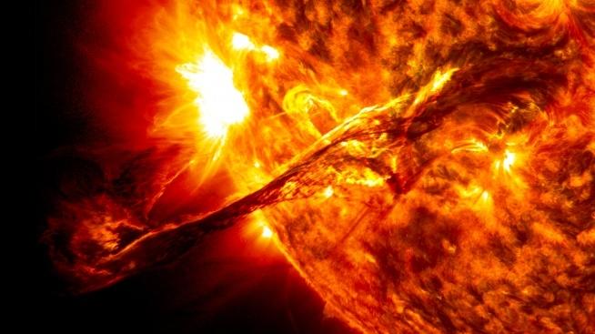 słoneczny wybuch
