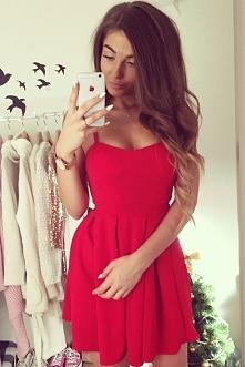 Mini sukienka czerwona, nas...