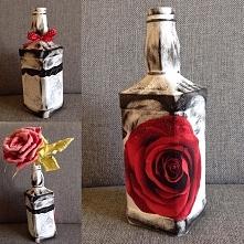 Decoupage z różą