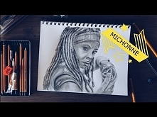 ⚔ Speed drawing of Michonne...
