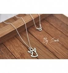 Łańcuszek srebrny z aniołkiem. Kliknięcie w zdjęcie przeniesie Cię do mojego sklepu!