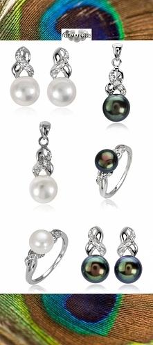 Piękny zestaw z perłami w k...