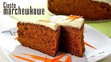 CIASTO MARCHEWKOWE 'CARROT CAKE'   Składniki:  3-4 dosyć duże marchewki 4 całe jajka 260 g mąki pszennej 170 g cukru ok. 150 g roztopionego masła (niegorące) 70 g drob...