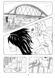 Nowy komiks, ale stary pomysł (kiedyś pisałam o tym opowiadanie, teraz wersja papierowa). Nie wiem czemu, chyba z głupoty pomalowałam jej włosy w 2 panelu. Potem jak zobaczyłam ...