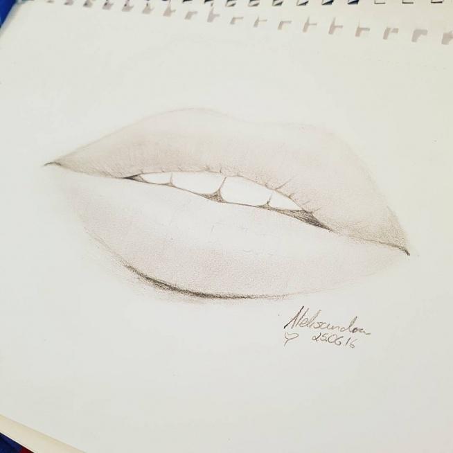 Mój rysunek z dziś ♥ Instagram - deadmoonaleks ♥