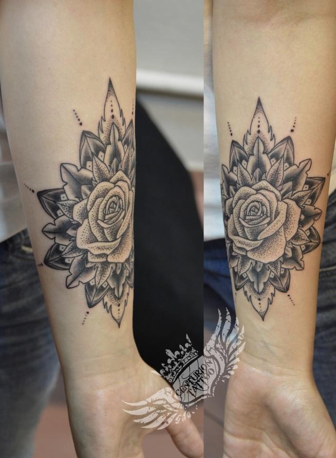 Mandalaróża Tatuaż Na Tattoo Zszywkapl