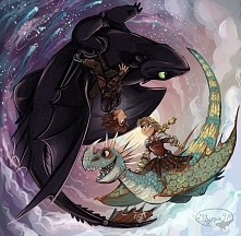Hiccup, Toothless, Astrid & Stormfly