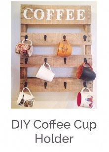How to build a pallet coffee mug holder