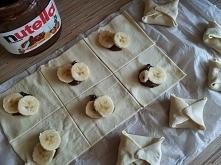 Koperty z bananem i nutellą