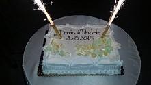 nasz tort weselny biszkopt ...