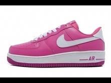 Buty damskie Nike Air Force 1 różowe z białym znaczkiem. Dostępne na sklep-air-max.pl