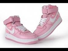 Buty damskie Nike Air Force 1 MID Różowe z białym znaczkiem. Dostępne na sklep-air-max.pl
