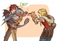 Astrid, Hiccup & little Toothless ♥