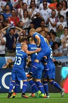 Islandia - Anglia  2 : 1  Reprezentacja Islandii to prawdopodobnie największa niespodzianka na Euro. Nieźli są!