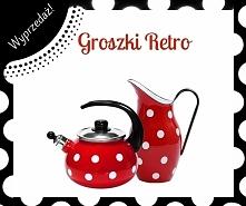 Gratka dla miłośników groszków retro. Czy można wymarzyć sobie lepsze akcesoria do kuchni?:) Więcej u nas -> naczynia.olkusz.pl