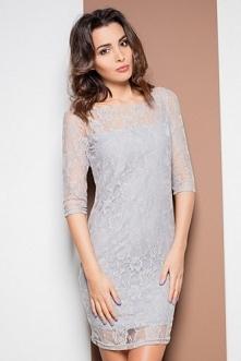 Romantyczna szara sukienka ...