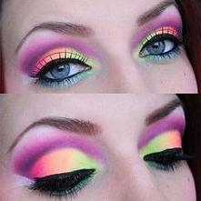 Neonowe letnie oczy