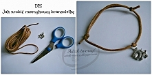 Jak zrobić prostą bransoletkę ze sznurka i zawieszki?  Tutorial szybki, łatwy i przyjemny - wystarczy KLIKnąć w zdjęcie, żeby zobaczyć szczegóły.  Po więcej biżuteryjnych instru...