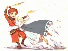 Elsa x Jack jako mistrzowie wody i ognia :)