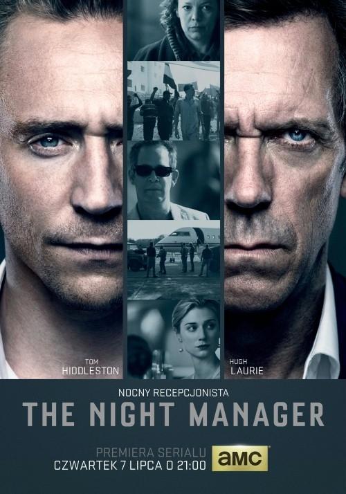 """The Night Manager   Współczesna adaptacja bestsellerowej powieści szpiegowskiej Johna le Carré. """"Nocny recepcjonista"""" przedstawia losy byłego brytyjskiego żołnierza Jonathana Pine'a (Tom Hiddleston), który został zrekrutowany przez agentkę wywiadu Angelę Burr (Olivia Colman) do infiltracji najbliższego otoczenia międzynarodowego biznesmena Richarda Onslowa Ropera (Hugh Laurie) i unieszkodliwienia zorganizowanego przez niego sojuszu kręgów szpiegowskich i grupy handlarzy bronią. Aby dostać się do serca ogromnego imperium Ropera, Pine musi stawić czoła pełnym podejrzliwości pytaniom skorumpowanego szefa jego sztabu, majora Corkorana (Tom Hollander), oraz urokowi pięknej dziewczyny biznesmena Jed (Elizabeth Debicki). Aby dokonać tego co słuszne, Pine musi najpierw sam stać się przestępcą.  Polecam gorąco! Począwszy od świetnej obsady (Hiddleston i Laurie w jednej produkcji <3 <3 ), przez niesamowity klimat, świetne zdjęcia, aż po intrygującą fabułę serial wymiata!"""