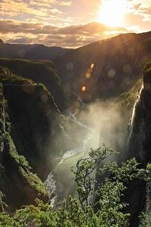 Wodospad Voringsfossen, Norwegia