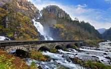 Wodospad Latefossen, Norwegia