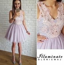 Sukienka tiulowo-gipiurowa Illuminate <3<3<3