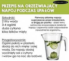 Orzeźwiający napój idealny na upały