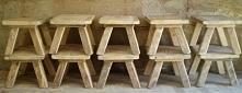 stołki drewniane