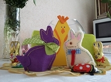 Trochę z opóźnieniem ;) Wielkanocne zajączki - ocieplacze na jajeczka :D