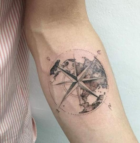 Róża Wiatrów Na Tatuaże Zszywkapl