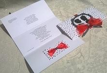 Kartka ślubna z kieszonką na pieniążki do tego dopasowana koperta.