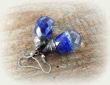 Kobaltowe kolczyki. Acoya Jewellery.