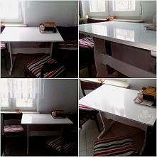 Pomalowany stół