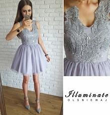 Ekskluzywna tiulowa sukienka z gipiurową górą  Illuminate