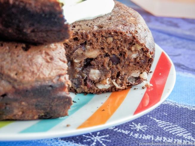czekoladowy omlet fasolowy