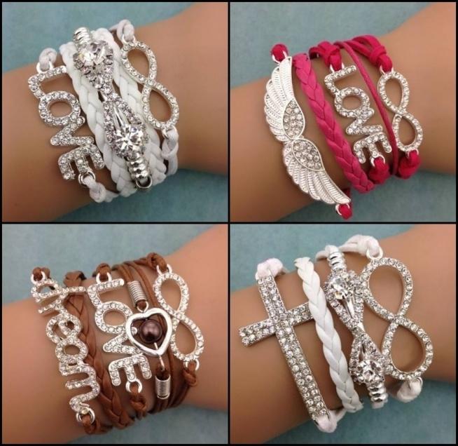 na sprzedaż mam piękne, nowe komplety bransoletek. Każdy komplet za 5 zł ! Wiele modeli :)  pytania na kinga.snk@interia.pl