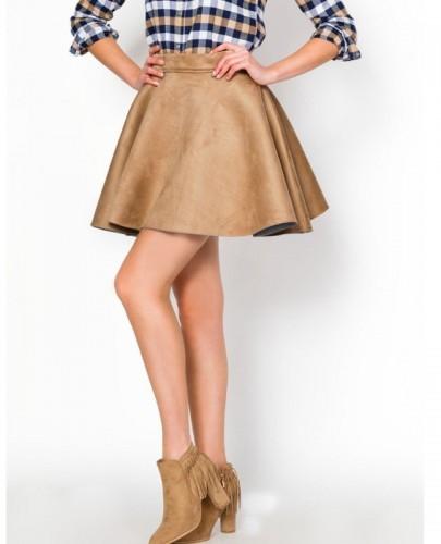 Rozkloszowana spódnica Flausz z kolekcji SummerTime NUDE <3