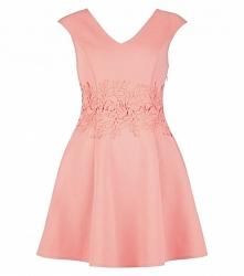 pastelowa rozkloszowana sukienka