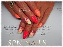 Manicure hybrydowy Miss Summer + Must Have    Nails by Olga, Studio Magnetic Nails Monika Sokołowska Kielce