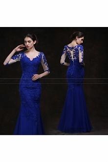 2016 New Summer Dress Blue Transparent Back Deep V-neck Dress Fashion Nightclub Bar Dress