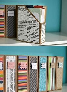 """segregatory na papiery DIY (ps. Zapraszam na YouTube """"kerwetka"""". Zn..."""