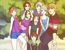 B4, Elsa, Anna, Kristoff i Flynn