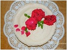 Różano-miętowy tort lodowy....