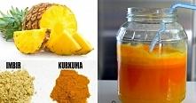 Napój ananasowo-imbirowy z kurkumą