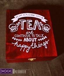 Pudełko na herbatę diy!